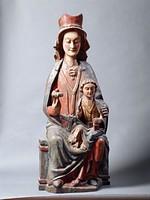 Мадонна с Младенцем на троне, Испания, начало XIV в.