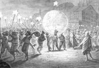 Утреннее шествие на карнавале 1866 года, Базель, Швейцария