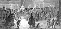 утреннее шествие 1856 года на карнавале, Базель, Швейцария