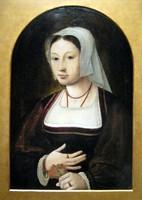 Портрет молодой  женщины с букетом цветов, нидерландский мастер, 1540-е гг.
