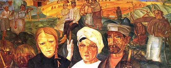 Борис Григорьев, «Земля народная» (1917)