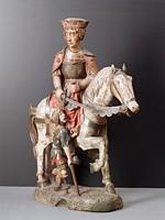 Святой Мартин верхом на коне, Германия или Австрия, конец XV в.