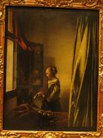 Ян Вермеер, «Девушка, читающая письмо у открытого окна», Дрезденская картинная галерея