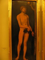 Лукас Кранах Старший, «Адам», Дрезденская картинная галерея