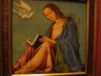 Лоренцо Коста, «Благовещение (читающая Мария)», Дрезденская картинная галерея