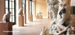 Билет в музей фарфора в Цвингере, Дрезден