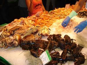 Рынок Бокерия на бульваре Рамбла, Барселона, Испания