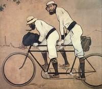 Картина «Рамон Казас и Пере Ромеу на велосипеде-тандеме»