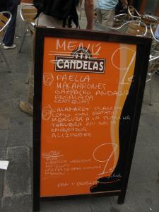 Меню ресторанчика , Валенсия, Испания