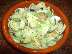 Моллюски альмехас в соусе