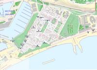 Квартал Барселонета, карта с ресторанами