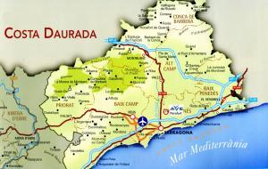 Карта курортной зоны Коста-Дорада