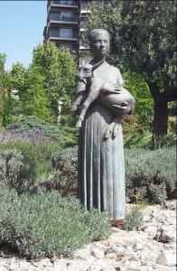 Памятник пастушке, Реус, Испания