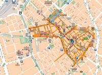 Карта центра Реуса, Испания
