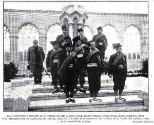 Участники каталонского добровольческого подразделения прибыли в Мадрид для возложения венка на могилу Прима