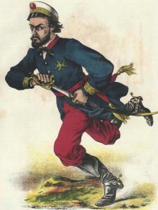 Карикатура на генерала Прима