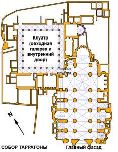 План кафедрального собора, Таррагона, Испания