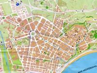 Карта города, Таррагона, Испания