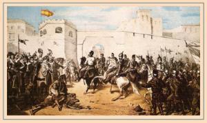 Вход испанских войск в Тетуан, картина того времени