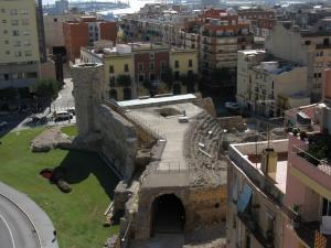 Вид на римский цирк, Таррагона, Испания