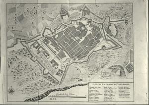 Укрепления Таррагоны, план 1769 года