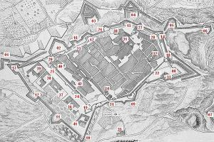 Укрепления Таррагоны, план 1811 года