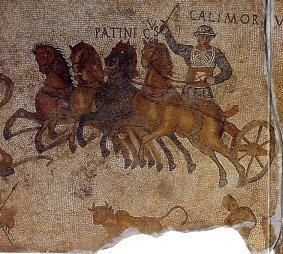 Гонки на колесницах в римском цирке